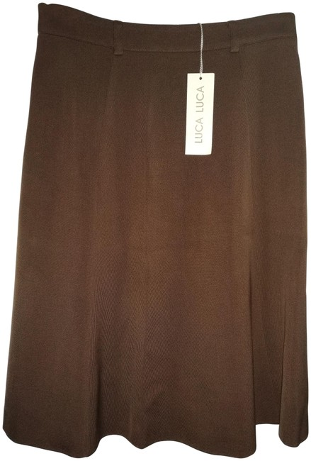 Item - Brown 42 Made In Italy Aline Skirt Size 8 (M, 29, 30)