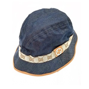 Gucci Monogram GG Denim Bucket Hat Size M