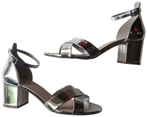 Guess Mirror Ankle Strap silver Pumps