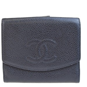 Chanel Black Caviar Bifold Wallet