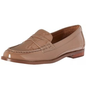 Lauren Ralph Lauren Patent Leather Loafer Mule Oxford nude Flats
