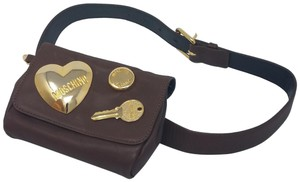 Moschino Brown leather Moschino Leather Icon Belt Bag