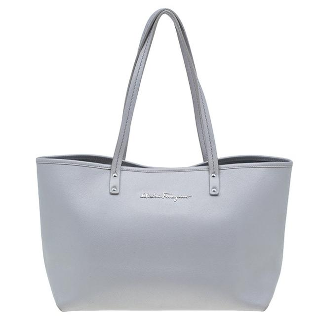 Item - Shopper Grey Leather Tote