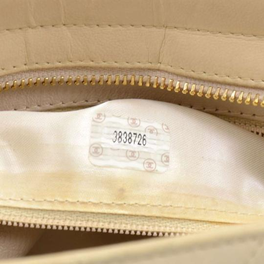 14f33ac64fd332 Chanel Vintage Quilted Small Beige Lambskin Leather Shoulder Bag ...
