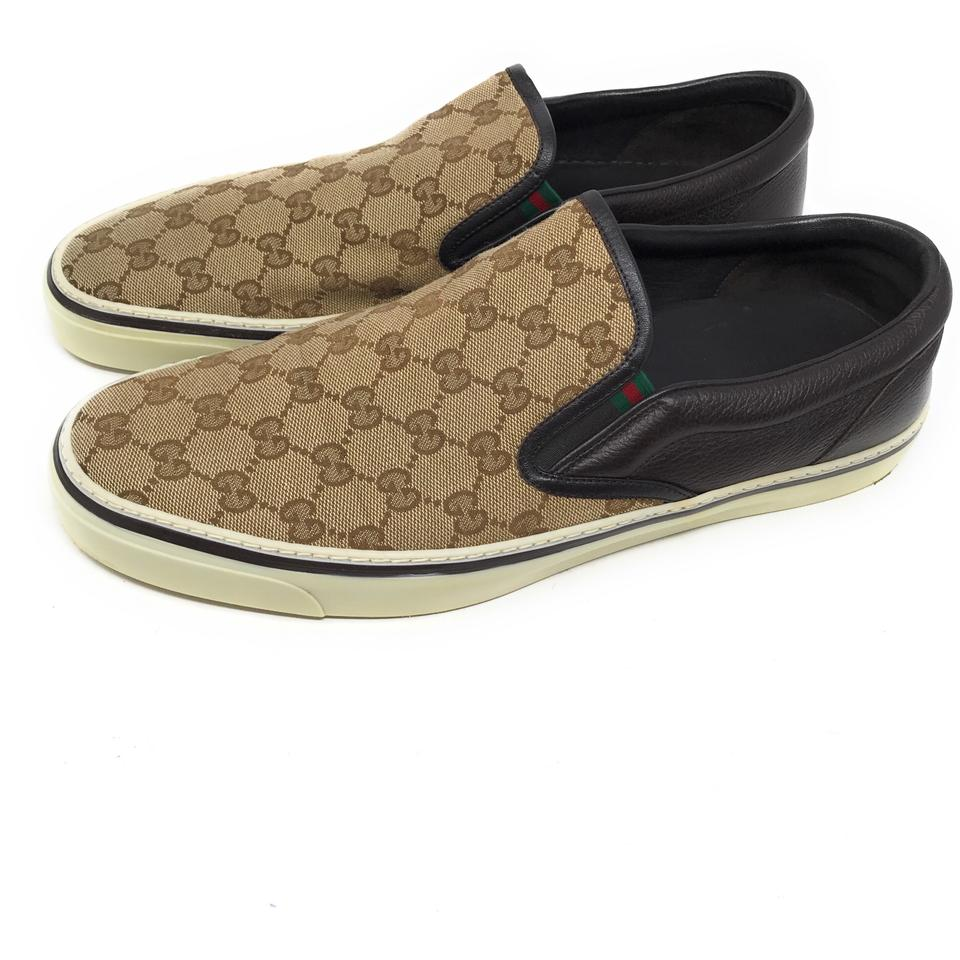 5715d045d24e7 Gucci Brown Men s Slip On Sneakers Gg Monogram Sneakers Size US 12.5 ...