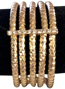 Lord & Taylor New Elastic gold bracelet fashion jewelry