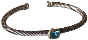 David Yurman Albion Cable Cuff Bracelet - Sterling Silver and 18K Gold