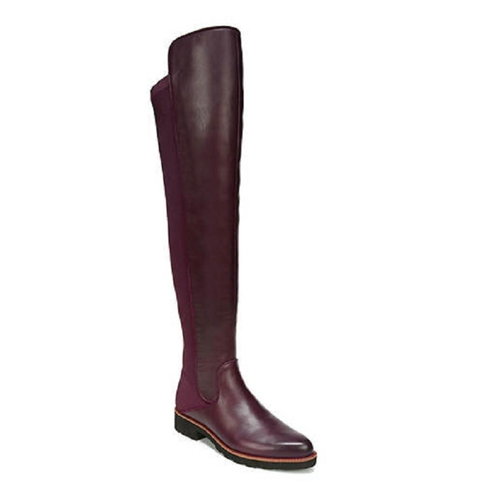 28f761530cf Franco Sarto Burgundy Benner Leather Stretch Back Over The Knee Boots  Booties. Size  US 5.5 Regular (M ...