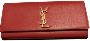 Saint Laurent Lipstick Red Clutch