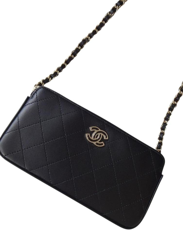 5fbbf21d1066 Chanel Woc Coco Double Zip Wallet Clutch On Chain Cross Body Bag Image 0 ...