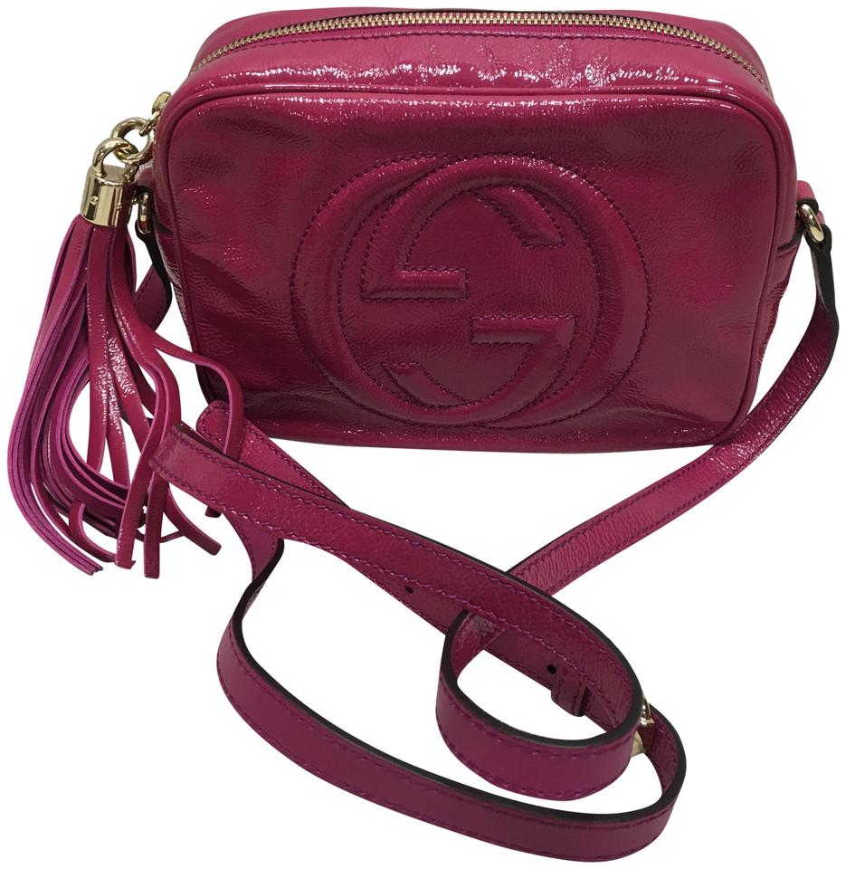 7a9301a6fcc Gucci Soho Disco Crossbody Fuchsia Vernis Shoulder Bag - Tradesy