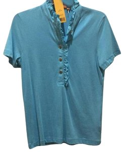 Tory Burch New Spring Polo New Summer Polo New Polo Summer New Shirt Spring Shirt W Tags Button Down Shirt blue