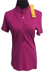 Tory Burch New Spring Polo New Summer Polo New Spring New Summer New Spring Button Button Down Shirt party fuscia