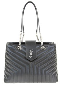 Saint Laurent Ysl Chanel Shopper Loulou Monogram Loulou Tote in Black