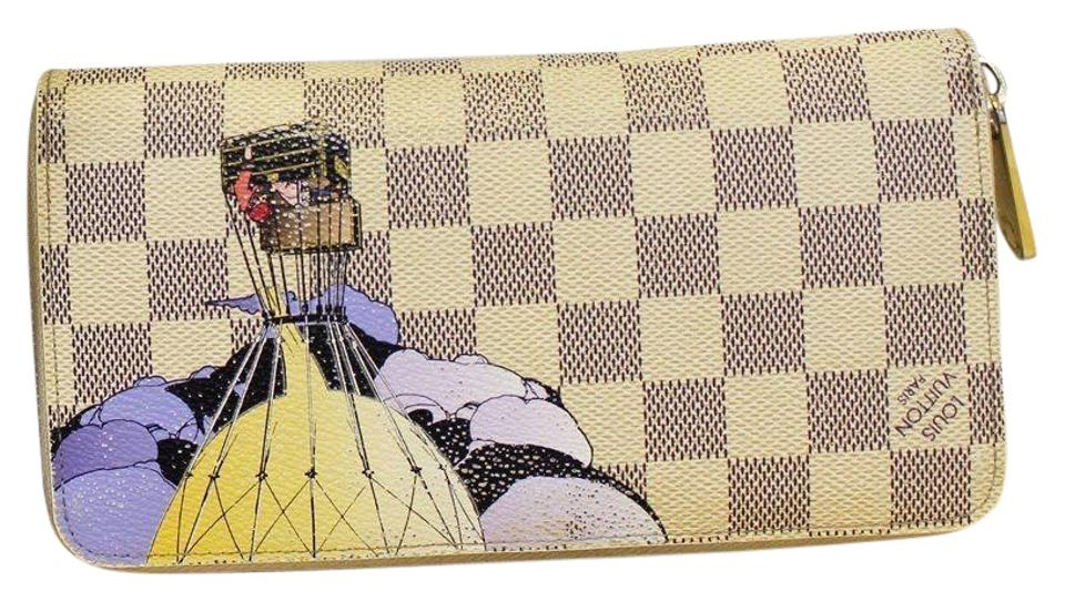 dda4bd9ee845 Louis Vuitton LOUIS VUITTON Damier Azur Canvas Illustre Zippy Wallet  Limited Image 0 ...