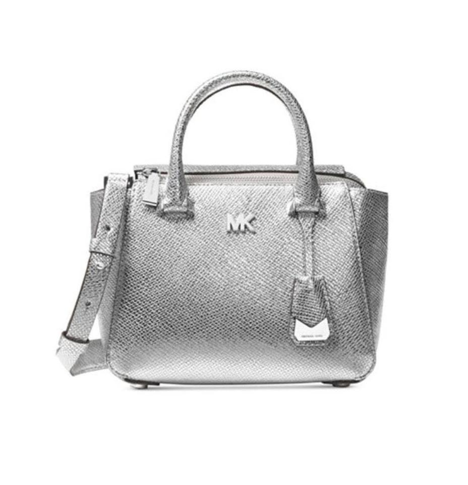 Michael Kors Nolita Mini Messenger Silver Leather Satchel - Tradesy db47f75ceaba4