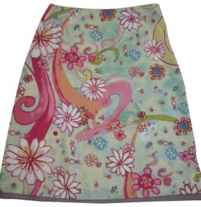 Susan Bristol Fun Print Skirt Multi color floral