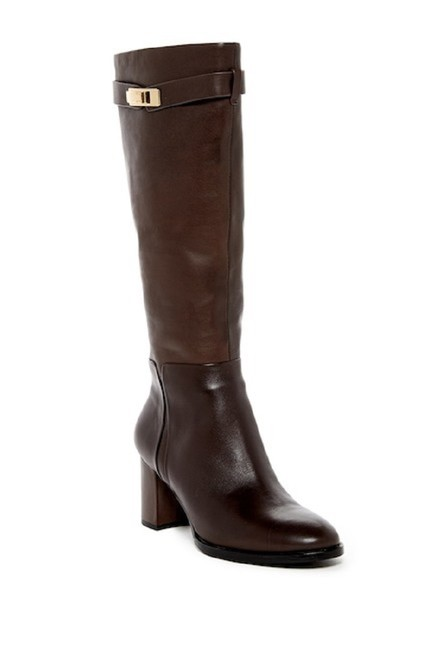 Item - Brown Ava Leather Tall Boots/Booties Size US 7.5 Regular (M, B)