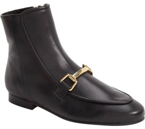 Topshop High Top Loafer Ankle Leather Black Boots