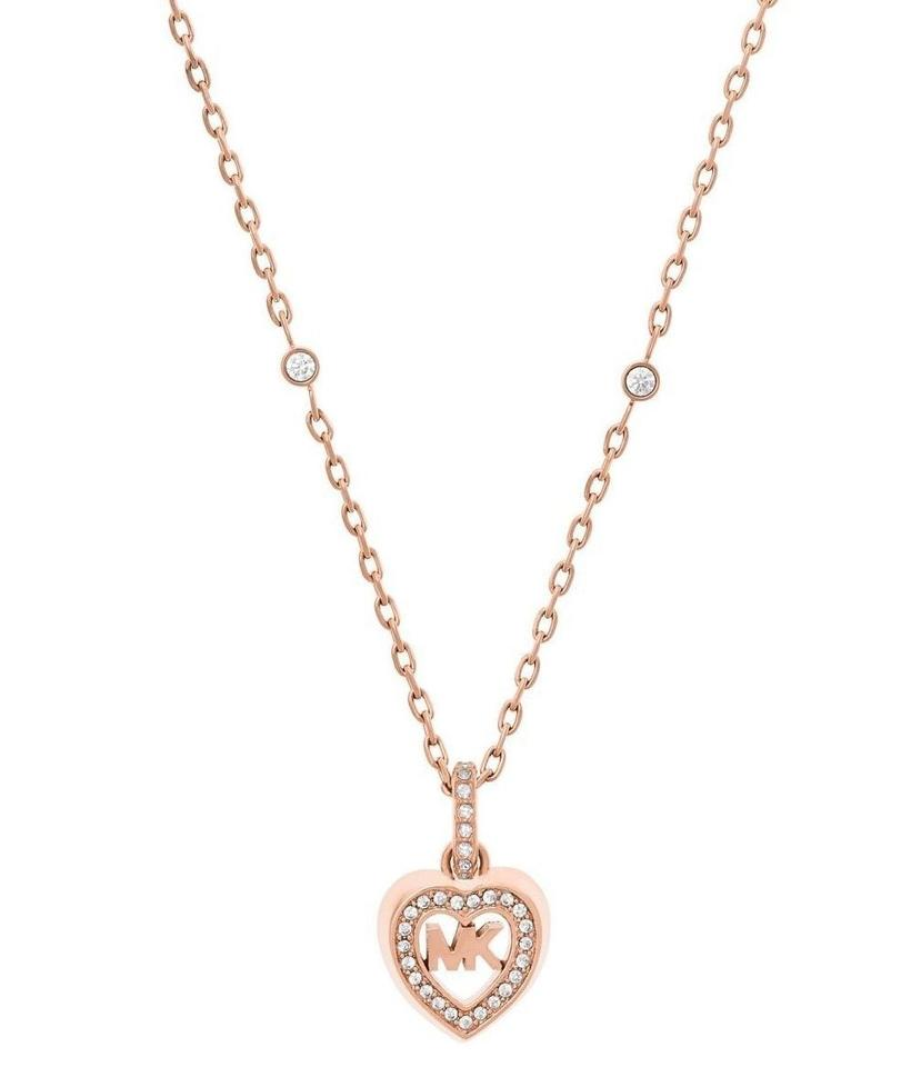 82b0026d2d669 Michael Kors Rose Gold Tone Love In Air Heart Pendant Necklace - Tradesy