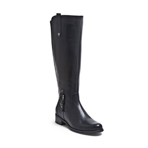 Blondo Leather Tall Wide Calf Riding Black Boots