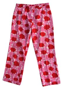 Helen Wang Capri/Cropped Pants Pink & Red