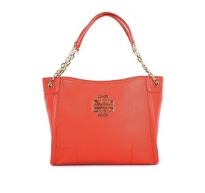 Tory Burch Shoulder Tote in poppy red