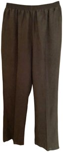 Alfred Dunner Dress Office Petite/Short Trouser Pants olive/army green