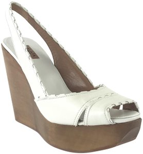ALAÏA White/Brown Sandals