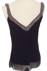 Elie Tahari Top Black With Beading