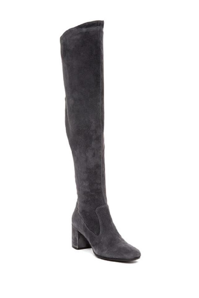 89564f31721 Vince Grey Blythe Suede Leather Over The Knee Boots Booties Size US ...