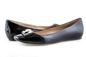 1406cc8f8023 Tory Burch Black Patent Leather Melody Pearl 7m New with Db Flats ...