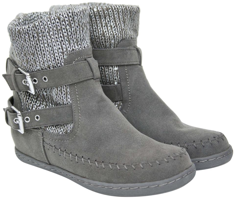 94e72a4f7c80 Guess Gray Suede Boots/Booties Size US 6 Regular (M, B) - Tradesy