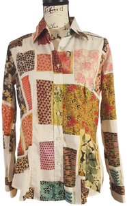 Etro Shirt Patchwork Italian Button Down Shirt multicolor