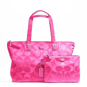 Coach Weekender Packable Nylon Tote in Pink