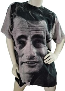 Fruit of the Loom James Dean Vintage Collectable Wearable Art T Shirt Ivory & Black