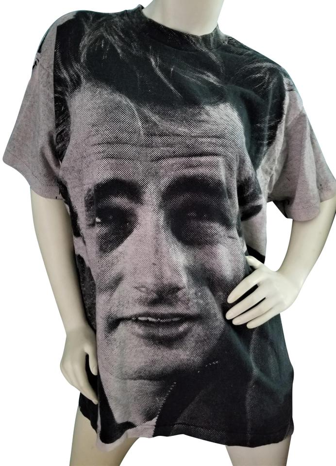 e9a83a38eac8b9 Fruit of the Loom James Dean Vintage Collectable Wearable Art T Shirt Ivory    Black Image ...