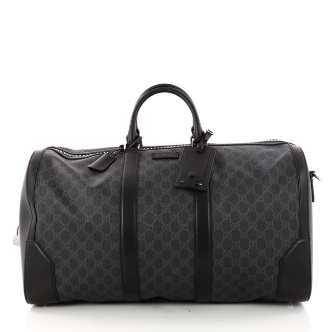 Item - Duffle Convertible Gg Coated Large Gray Canvas Weekend/Travel Bag