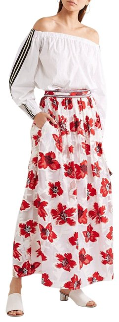 Item - Red-white Embroidered (Nwt) Barrington Floral Skirt Size 0 (XS, 25)