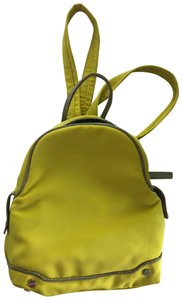 Borbonese Italian Handbag Yellow Backpack