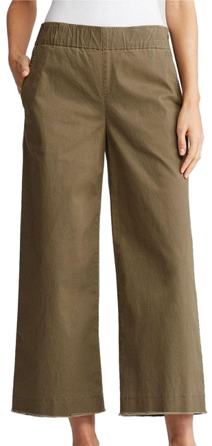 Item - Olive Green Washed Organic Cotton Tencel Twill Wide Raw Edge M Pants Size 10 (M, 31)
