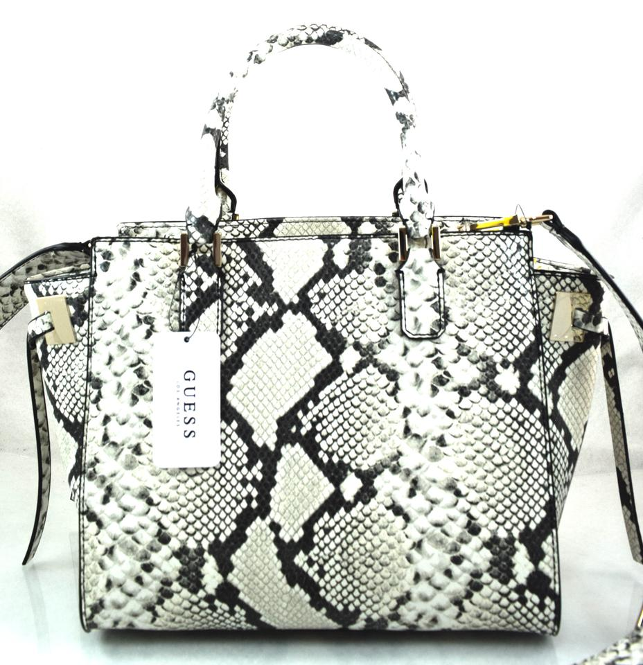 f2c19ba716a0 Guess Digital Python Grey Faux Leather Satchel - Tradesy