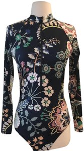 J.Crew J.CREW ZIP-UP LONG-SLEEVE SWIMSUIT IN LIBERTY FLORAL SYMPHONY SIZE 4