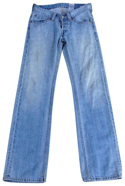 Item - Light Blue Fade Wash Slouch Straight Leg Jeans Size 4 (S, 27)