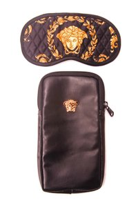Versace Versace Medusa Classic Baroque Logo Eye Sleep Mask & Travel Mask