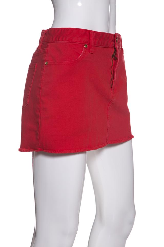 skilful manufacture top-rated save up to 60% Red Denim Skirt