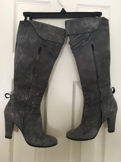 Kate by Ferrari Suede Tassels Gray Boots Image 1