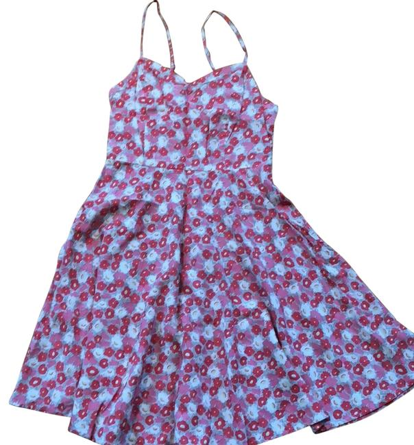Item - Pink Cami Fit and Flare Short Casual Dress Size 6 (S)
