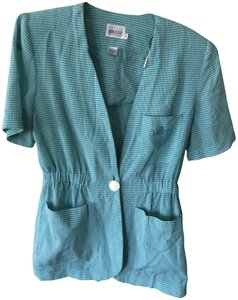Leslie Fay Green and White Jacket