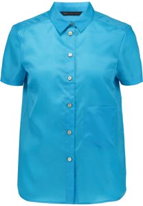 Marc by Marc Jacobs Logo Silk Top Blue